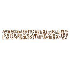 Sizzix - Tim Holtz - Sizzlits Decorative Strip Die - Alterations Collection - Die Cutting Template - Alphabetical at Scrapbook.com $19.99
