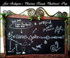 Jack's Chalkboard Christmas Equation: Nightmare Before Christmas DIY Prop Tutorial