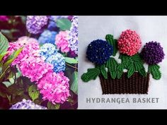 Hand Embroidery Flowers Stitch by Diy Stitching - 15 | Hydrangea Flowers - YouTube