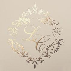 Hot Stamping Dourado Wedding Logos, Monogram Wedding, Wedding Stationary, Wedding Cards, Wedding Invitations, Monogram Design, Monogram Initials, Logo Design, Wax Stamp
