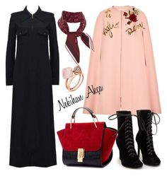 hijab fashion outfit  #31 by nebihan-akca on Polyvore featuring polyvore fashion style Dolce&Gabbana Tom Ford Nly Shoes Michael Kors Gucci women's clothing women's fashion women female woman misses juniors