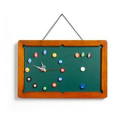 Billiard clock with message board