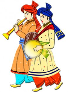 Indian wedding color the. Marriage clipart shubh