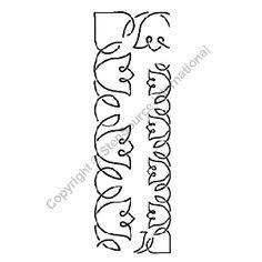 """Continuous Line Quilting Stencils > 1/2"""" - 2"""" Border C.L. - Item: 1.5"""" & 2.5"""" on QuiltingCreations.com"""