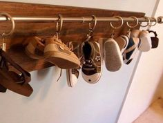 29 Ideas For Baby Shoes Storage Hooks Shoe Storage Hooks, Baby Shoe Storage, Shoe Organizer, Diy Storage, Storage Ideas, Storage Boxes, Shoe Rack, Baby Boots, Baby Girl Shoes
