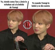 Ideas for memes en espanol amor funny Yoonmin Fanart, Yoongi, Bts Bangtan Boy, Vkook Memes, New Memes, Memes Humor, Girlfriend Humor, Drama Memes, Memes Funny Faces