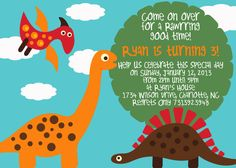 Dinosaur Birthday Invite!