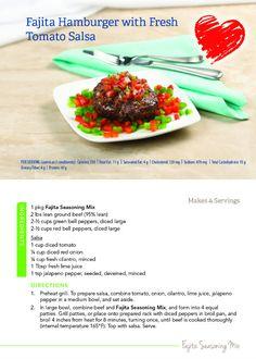 New recipe for Fajita Hamburgers with Fresh Tomato Salsa!