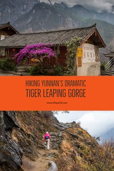 Hiking the dramatic scenery of Tiger Leaping Gorge in Yunnan, China. #tigerleapinggorge #yunnanprovince #china #tigerleapinggorgehiking #trekkinginchina