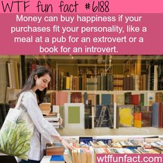Money and happiness - WTF fun facts Books To Buy, Used Books, Money And Happiness, True Happiness, What The Fact, Wtf Fun Facts, Random Facts, Start Up Business, Business Ideas