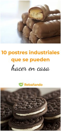 10 DULCES INDUSTRIALES que se pueden hacer en casa The recipe to make ten desserts that are much healthier homemade sweets Beautiful Soup, Decadent Cakes, Sweets Cake, Sweet Recipes, Food To Make, Bakery, Sweet Treats, Food And Drink, Chocolates