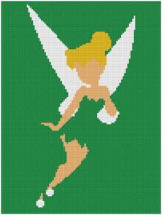 BOGO FREE Tinkerbell cross stitch от XStitchMania на Etsy