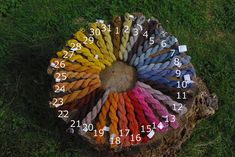 naturally dyed color wheel - great flickr image, with descriptions