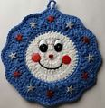 Crocheted Crochet Potholder Pot Holde...