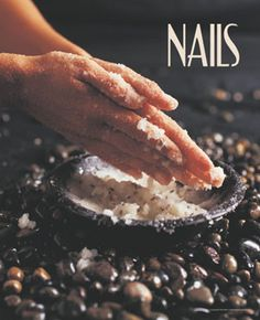 Feature additional services at your nail salon or spa such as an exfoliating salt scrub with this high quality NAILS poster. - $1
