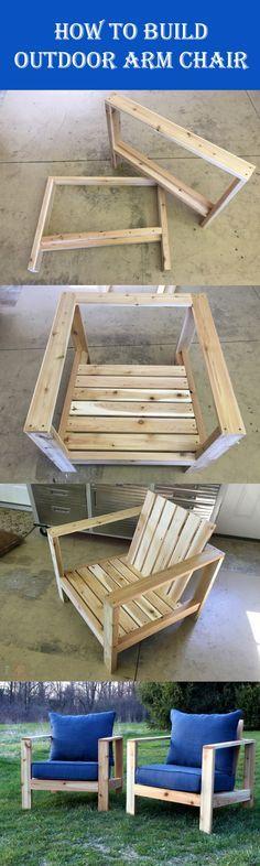 DIY Outdoor Arm Chair