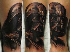Xavier Garcia Boix - Awesome Darth Vader Tattoo http://inkchill.com/awesome-darth-vader-tattoo/ #darthvader #sith #starwars #tattoo