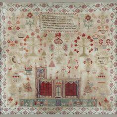 "A mid 19th Century needlework sampler ""Hariet Birley Aged 9 1846"""