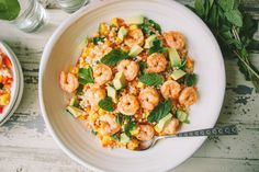 Shrimp and Israeli Couscous Salad with Mango and Avocado - A Thought For Food