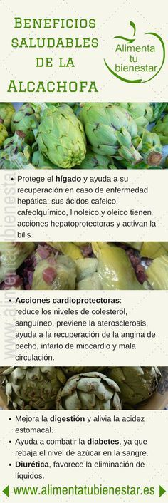#Infografia Beneficios para la salud de la alcachofa #alimentatubienestar