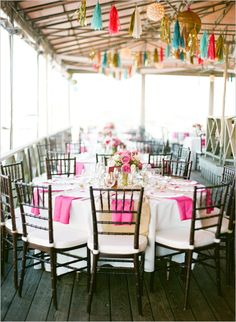 beach wedding decoration ideas by Lil Hoot Parties