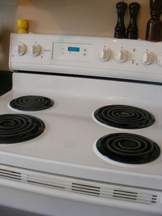 Inexpensive way to clean cooked-on gunk from your stove. A must-do before selling your home.