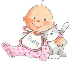 Bébé et son chat