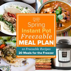 Shop, prep, and assemble 20 easy freezer meal dinners in less than 2 hours with this Instant Pot Mini Menu! Plus you can do it with only $100 of groceries!