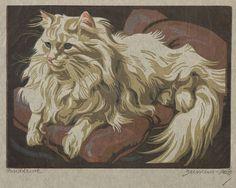 Lady cat artist. N.