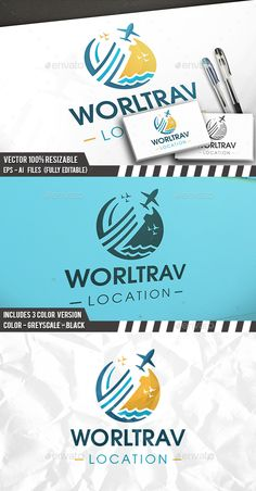Summer Travel Logo Template PSD, Vector EPS, AI Illustrator