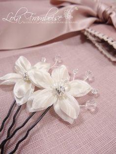 Pic à cheveux strassé, vendu à l'unité. Pic à cheveux mariage fleur perles strass, pic à cheveux mariée fleur perles strass