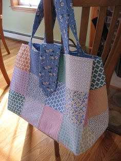 Super Awesome Patchwork Tote Bag