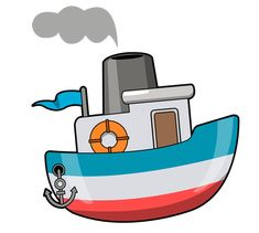 Boat free to use clipart Boat Cartoon, Cartoon Ships, Cartoon Images, Cartoon Art, Cartoon Characters, Clipart, Boat Drawing, School Murals, Free Cartoons