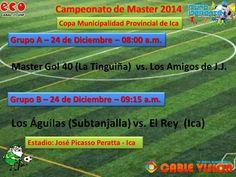 """""""Vive TÚ Pasión... El Deporte"""": Campeonato de Master 2014 - Ica - Perú"""