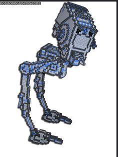 3D AT-ST Star Wars ship perler beads