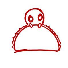 Chibi Deadpool Taco by @teeturtle