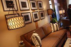 Love this light and wall art scheme! #HPMKT