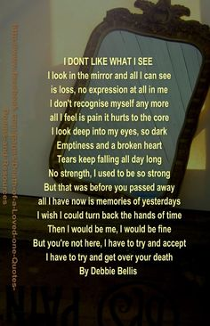 This quote expresses exactly what and who I am. A year and a half and the hurting is still so strong, so consuming.