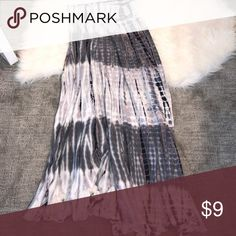 TIE DYE MAXI SKIRT SIZE XS Bought at a boutique, no tags on I️t but only worn once, in perfect condition! Size XS but can definitely fit a small! Beautiful skirt! Offers welcome checkout my closet:) Skirts Maxi