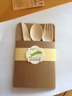 Cowgirl Party - Utensil Pockets and Labels by Fort Lauderdale Invitations - Visit our website for contact and ordering information! Fort Lauderdale * Hollywood * Miami * Palm Beaches * We Ship Worldwide