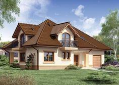 Projekat kuće sa potkrovljem i garažom – Minor Village House Design, Kerala House Design, Modern Bungalow House, Bungalow House Plans, House Outside Design, House Front Design, Dream Home Design, Home Design Plans, Balcony Grill Design