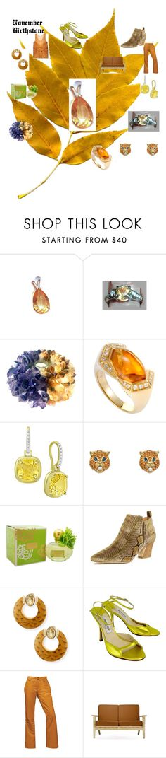 """""""November Birthstone"""" by missy69-etsy ❤ liked on Polyvore featuring Gucci, Coach, Miista, Silvia Furmanovich, Jimmy Choo, The North Face, Rove Concepts, jewelry, citrine and NovemberBirthstone"""
