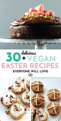 Over 30 eggcellent vegan Easter recipes that are guaranteed to impress! The best vegan breakfast, brunch, lunch and dinner ideas to impress your family! Plus some delicious dessert recipes to make your Easter special. Best Vegan Recipes, Vegan Dessert Recipes, Vegan Sweets, Brunch Recipes, Appetizer Recipes, Delicious Desserts, Recipes Dinner, Vegetarian Recipes, Desserts Ostern