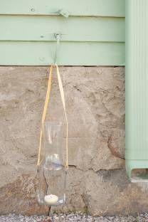 DIY cut glass lantern