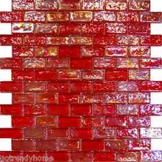 Sample-Red-Iridescent-Subway-Glass-Mosaic-Tile-Kitchen-Backsplash-Sink-Wall-Spa