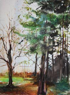 New England Landcape No.127, original watercolor