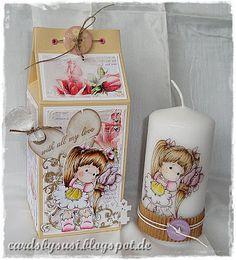 Baffies Kreativladen - Der ShopBlog -: Milchtüte und Kerze mit Tilda with Love