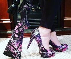 Some Just Look Cooler. Muddy Girl Camo, Pink Camouflage, Pink Girl, Stiletto Heels, Play Hard, Lifestyle, Boots, Work Hard, Stuff To Buy