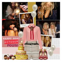 """Happy Birthday October Polys ♥"" by bklana ❤ liked on Polyvore featuring Gucci and River Island"