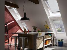esszimmer einrichten in dachgeschosswohnung fenster in schrgdach inspirationen zu dachgeschosswohnungen von velux dachausbau - Dachgeschoss Wohnungen Einrichten Ideen